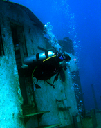 wreck diving on st maarten